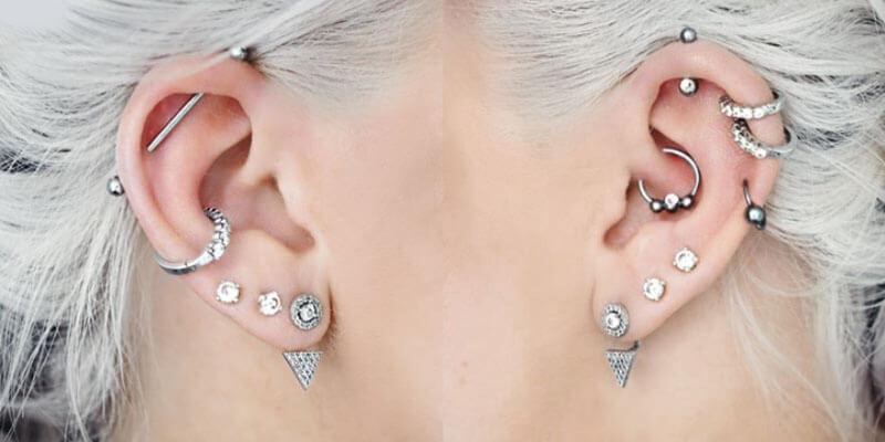 Vị trí bấm lỗ tai phổ biến cho phái mạnh