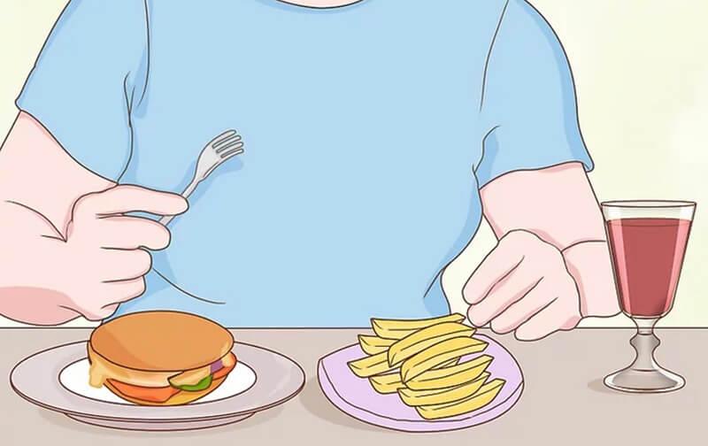 Ăn đồ ăn vặt nhiều dầu mỡ, béo khi uống