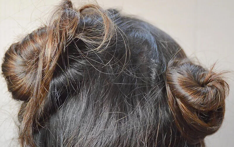Chia tóc thành các phần