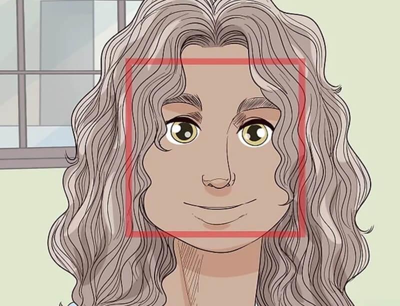 Chọn kiểu tóc layer tỉa nhọn nếu bạn có mặt vuông.