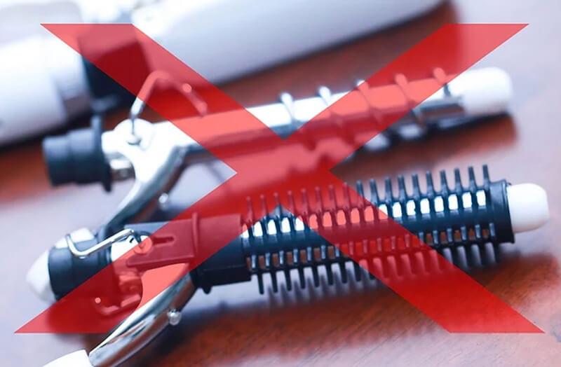 Tránh tạo kiểu bằng máy nhiệt, và xịt lớp kháng nhiệt nếu có làm.