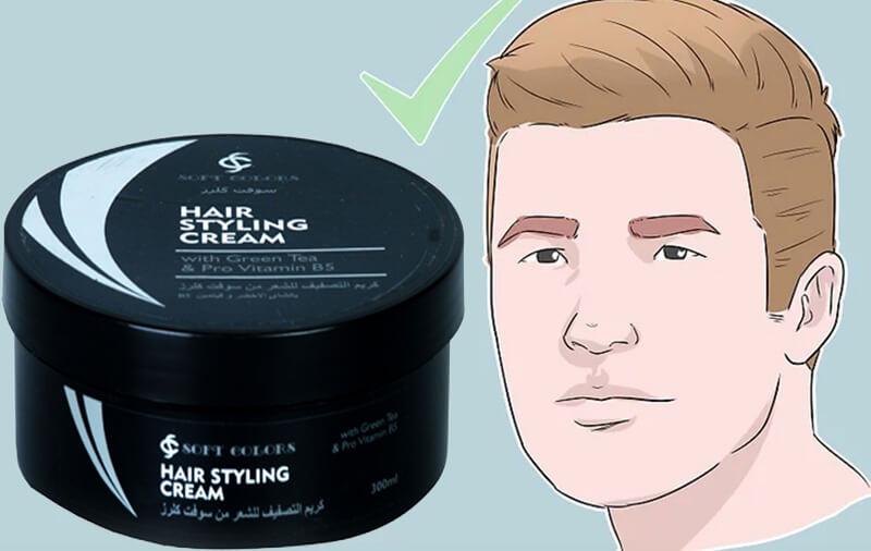 Dùng kem tạo kiểu tóc