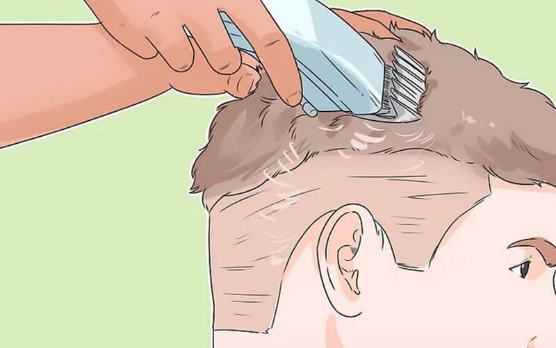 Cắt phần tóc trên