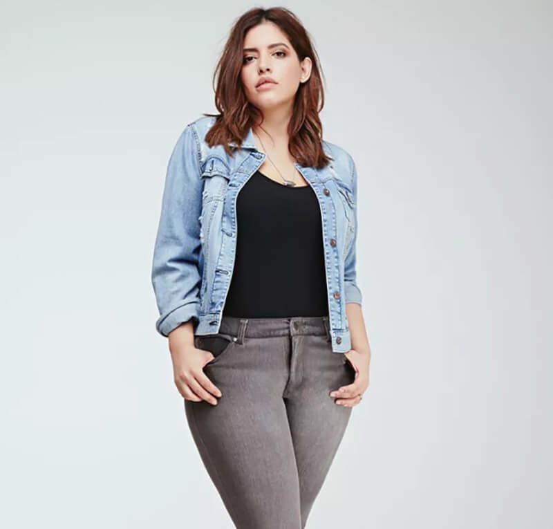 Mặc áo khoác Jean với skinny Jeans