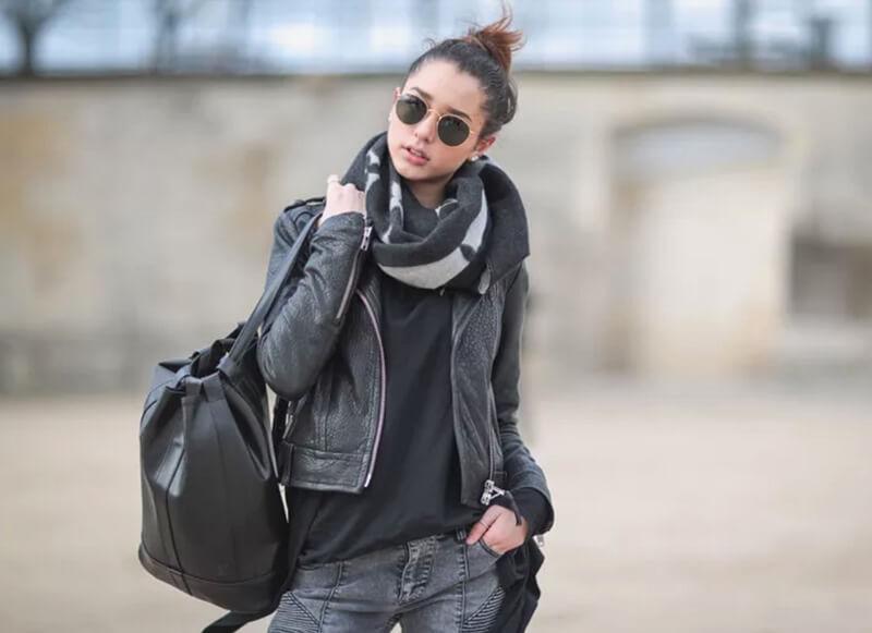 28 phong cách ăn mặc đường phố với quần jeans và áo khoác da