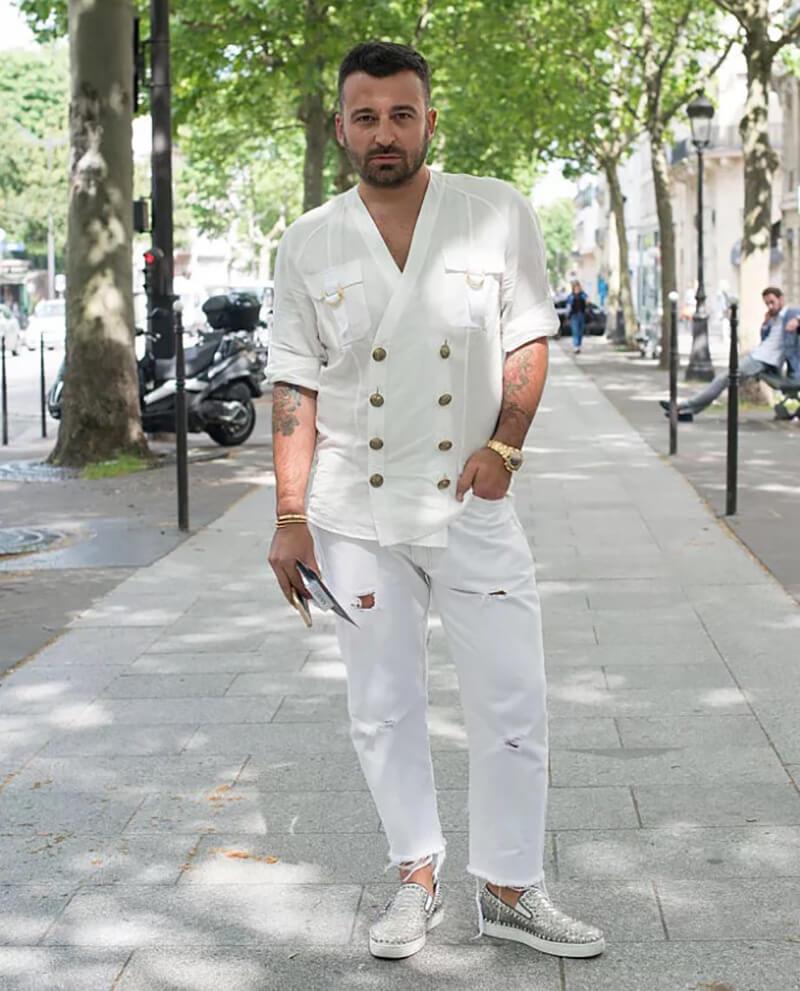 Trang phục hợp thời trang – Quần jean trắng cho nam giới