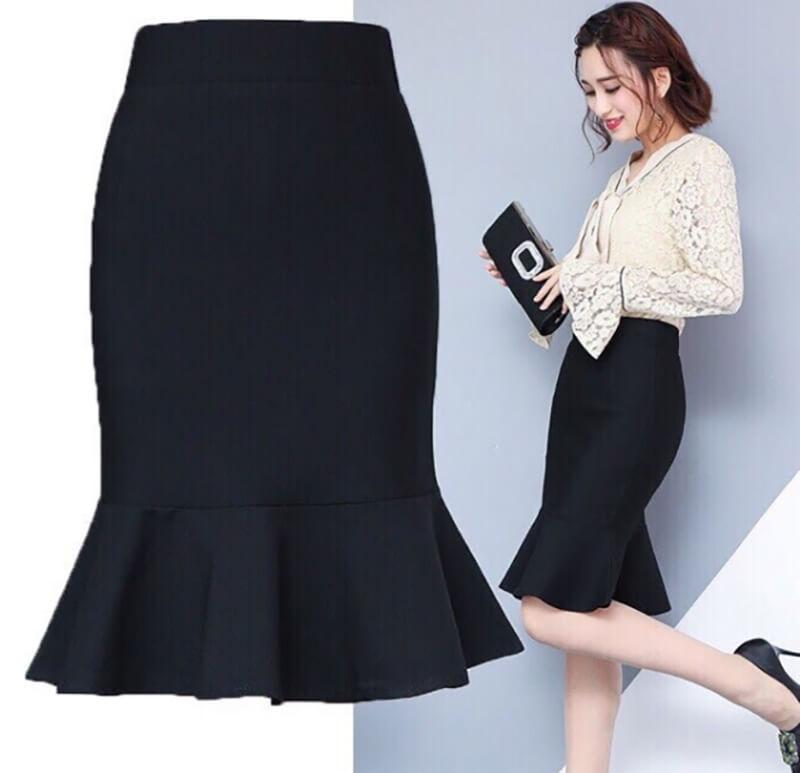 Chân váy đuôi cá mang đến cho cô nàng công sở sự nữ tính, duyên dáng.