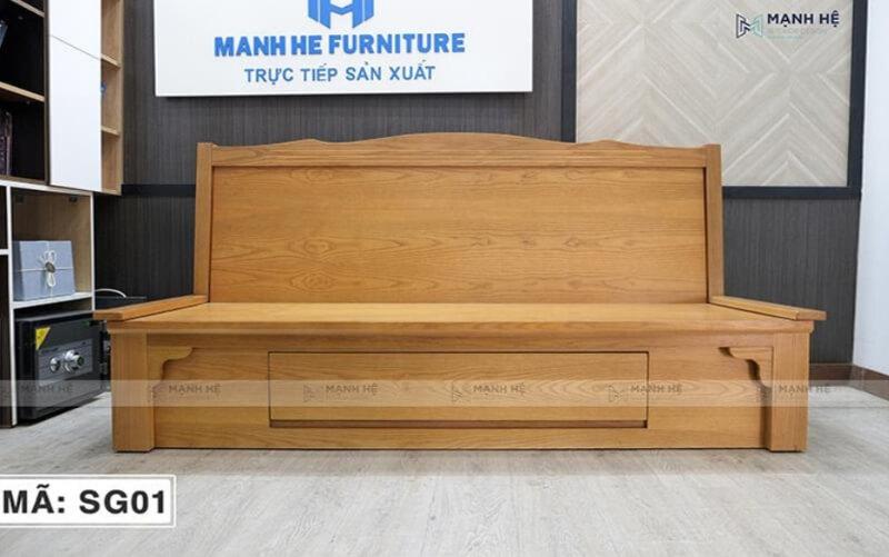 Chất liệu gỗ cao cấp, độ bền cao