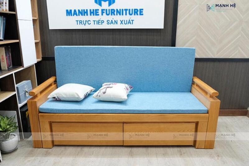 Ghế kéo thành giường bằng gỗ công dụng 2 trong 1
