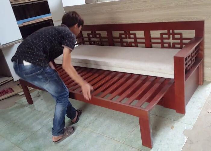 Ghế kéo thành giường bằng gỗ là gì? Lựa chọn hoàn hảo cho mọi không gian