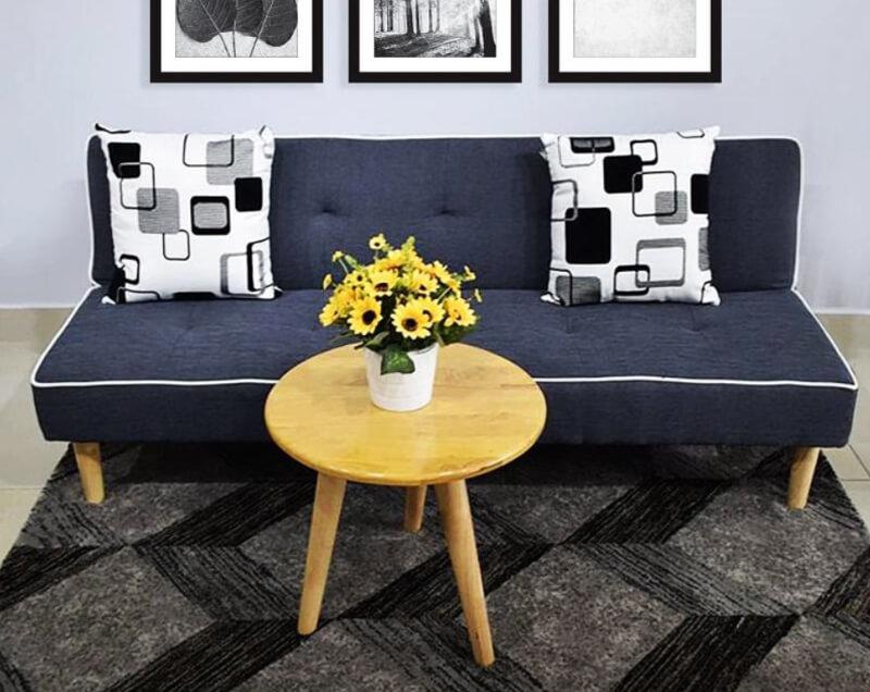 Sofa giường êm ái giúp phòng khách rộng rãi và sang trọng hơn